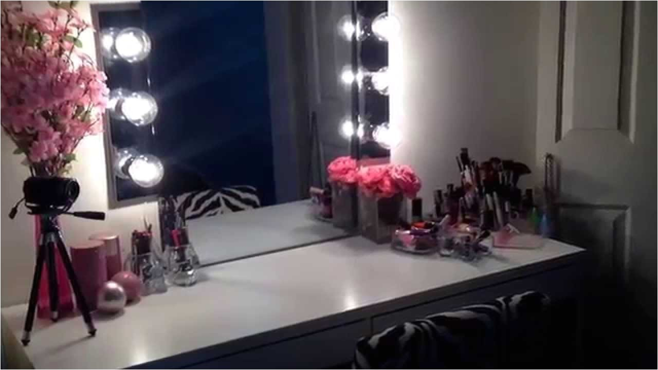 vanity table with lighted mirror ikea