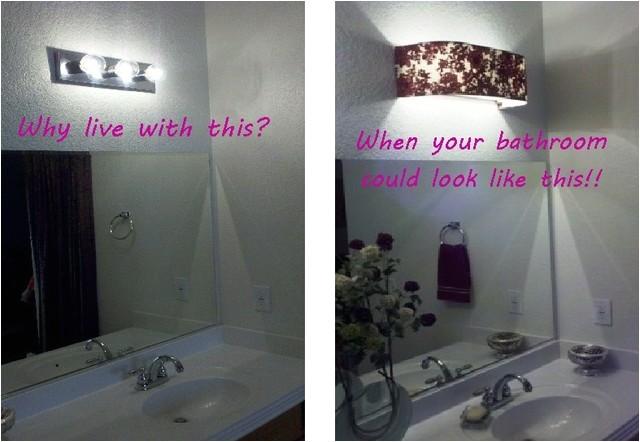 custom lampshades before after bathroom vanity lampshade traditional lamp shades las vegas