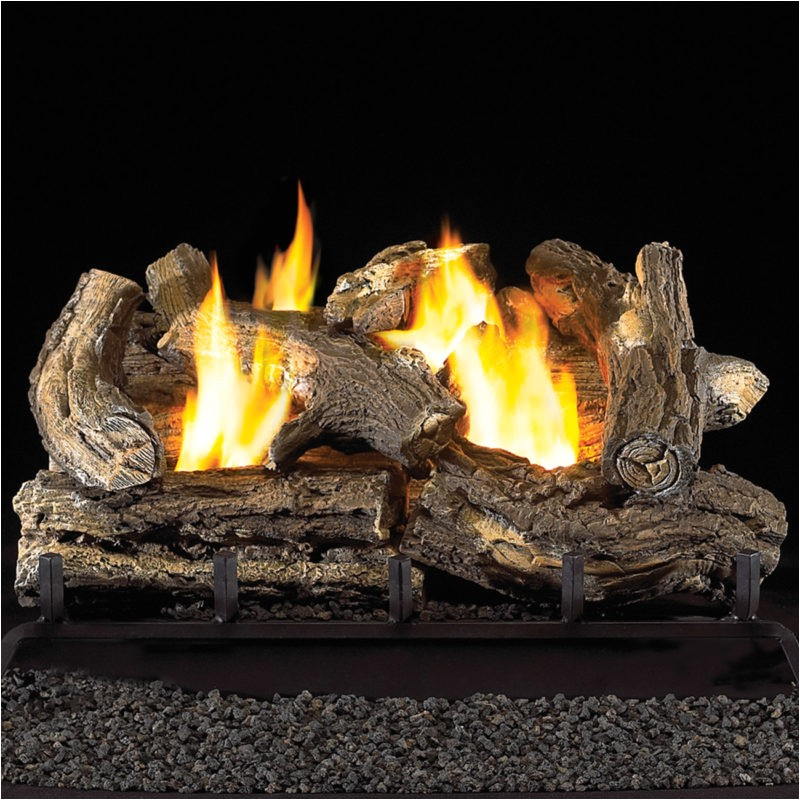 Ventless Gas Fireplace Logs Reviews 18 Quot Ventless Natural Gas Log Set 32 000 Btu Procom Heating