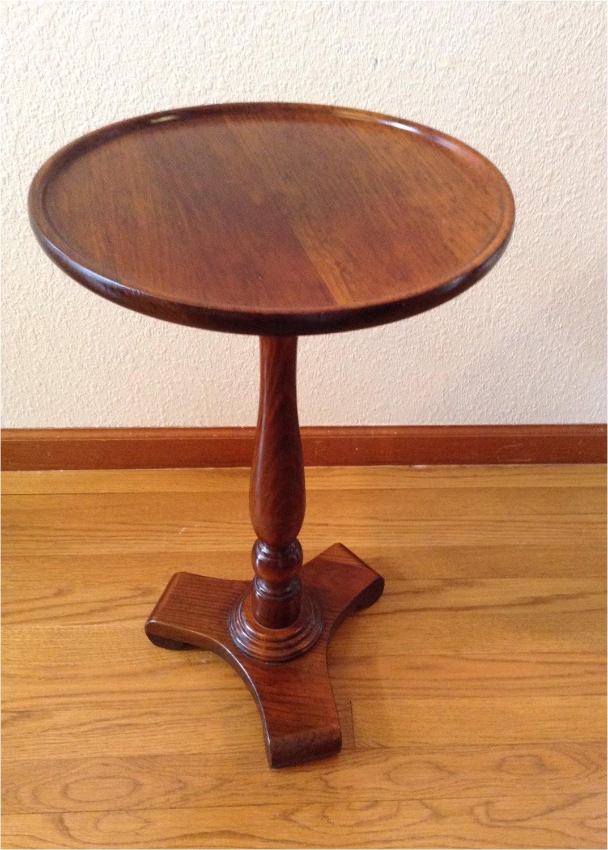 vintage ethan allen wood wine table side