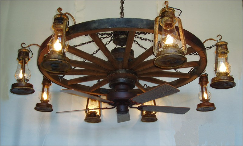 wagon wheel chandelier dxww037fan
