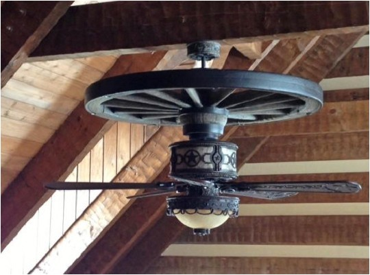 wagon wheel ceiling fan ideas