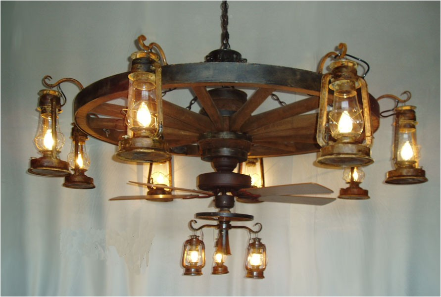 wagon wheel ceiling fan