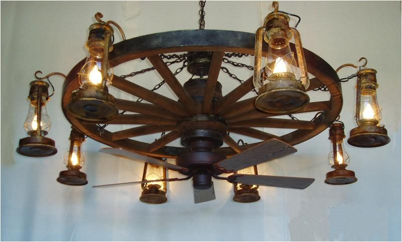 Wagon Wheel Ceiling Fan with Light Dxww037 60 8 Fan 1 Tier Wooden Wagon Wheel Chandelier W