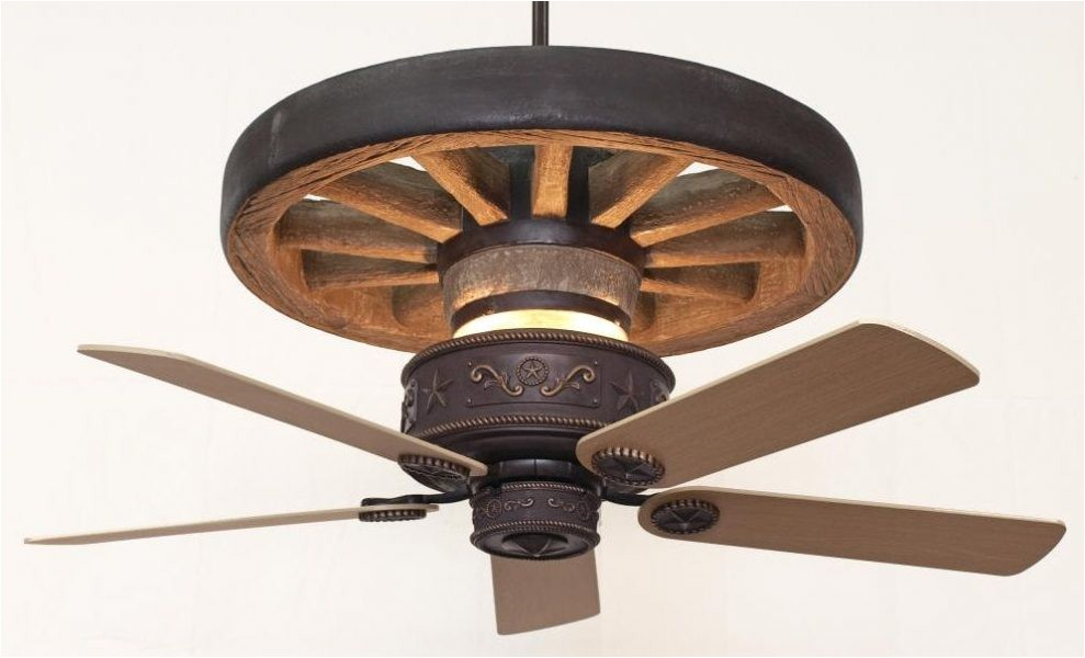 Wagon Wheel Ceiling Fans with Lights Copper Canyon Western Star Wagon Wheel Ceiling Fan