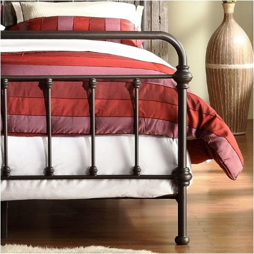 homelegance nottingham metal spindle bed antique dark bronze metal queen