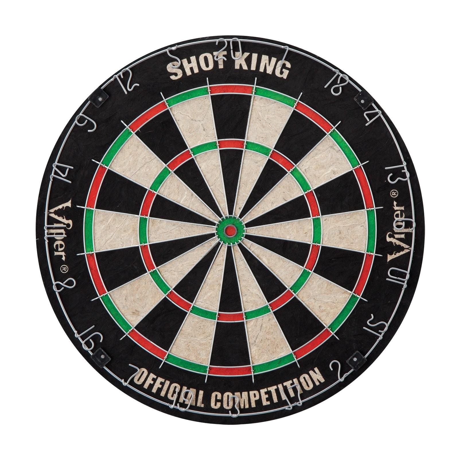 What are Dart Boards Made Of Viper Shot King Bristle Dart Board and Darts Set Dart