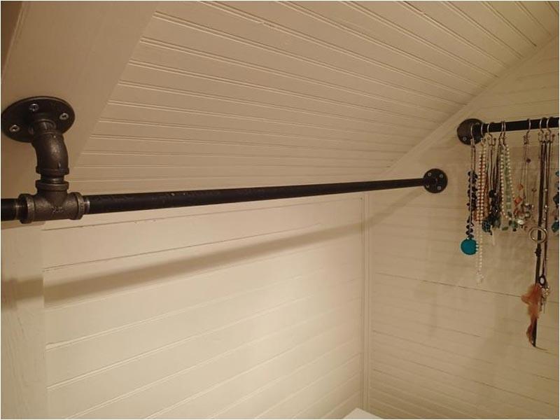 White Closet Rod Bracket for Angled (sloped) Ceiling Closet Rod Bracket for Sloped Ceiling Get even More