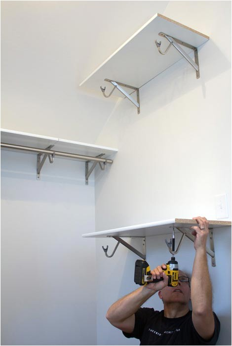 closet rod bracket angled ceiling 2
