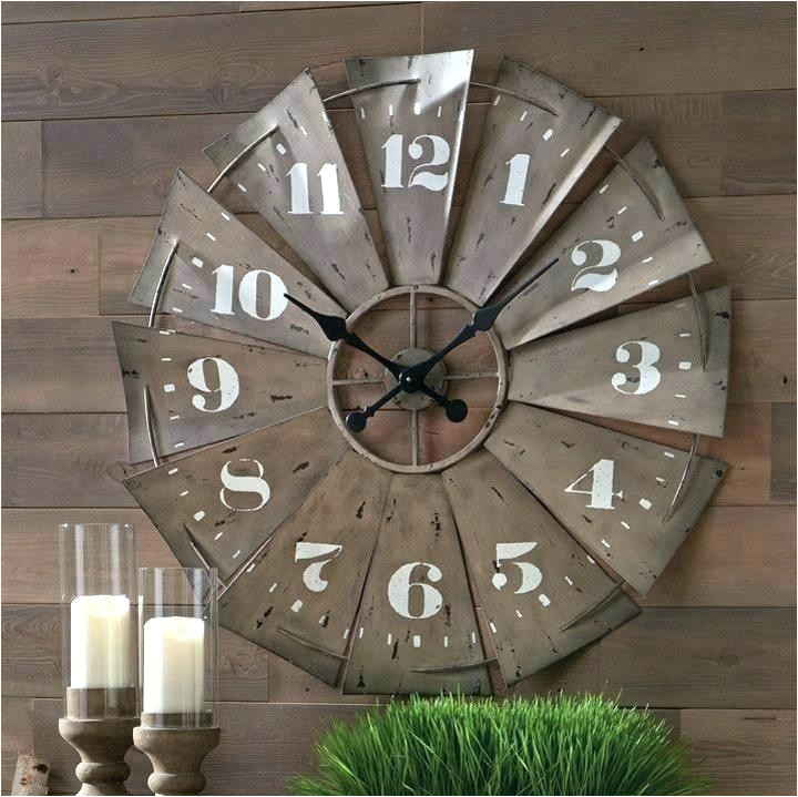 windmill wall clock large galvanized retro round clock galvanized windmill clock retro metal windmill wall clock for galvanized windmill wall clock