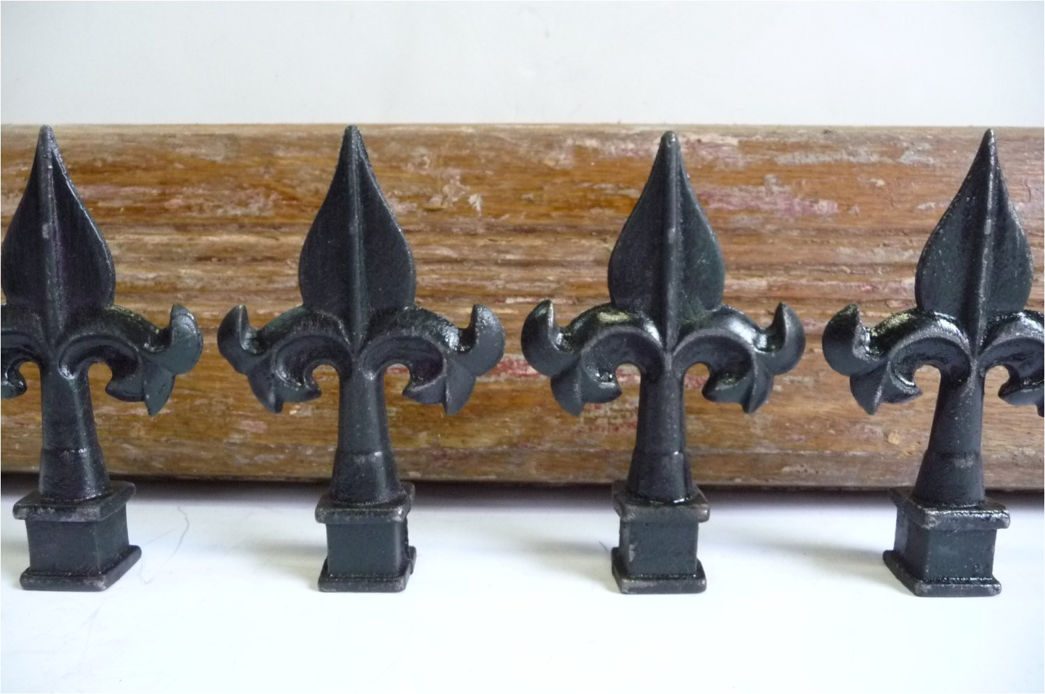 4 cast iron finials caps wrought iron