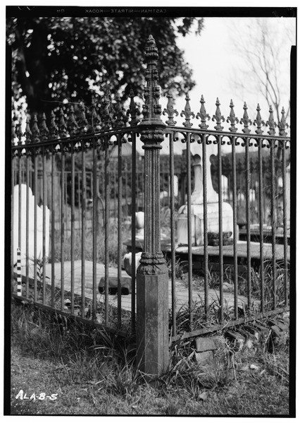 file cast iron post wrought iron fence with cast iron picket caps john herpin lot in old church st cemetery church habs ala 49 mobi 9 6 tif