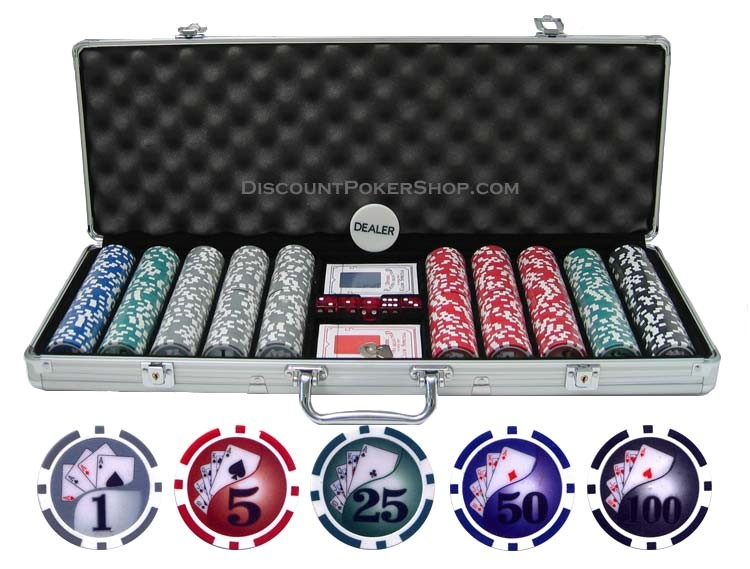135g 500 yin yang clay poker chip set p 42