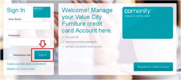 vcf credit card login comenity