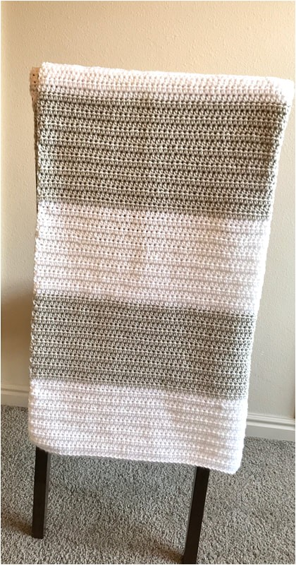 block stripe baby blanket