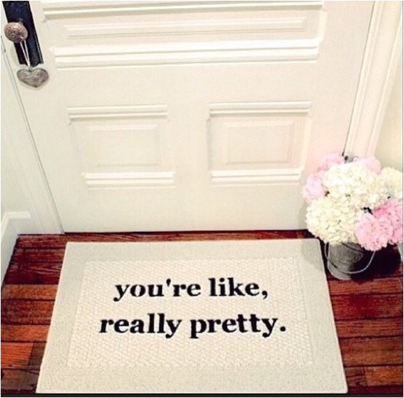 limited edition you re like really pretty decorative doormat door mat area rug hand painted 20x34 single border by be there in five