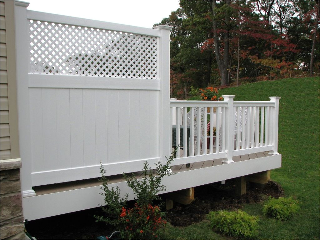 Alternatives to Lattice for Deck Skirting Azek Low Maintenance 6 Deck Privacy Panel with Lattice top Yard