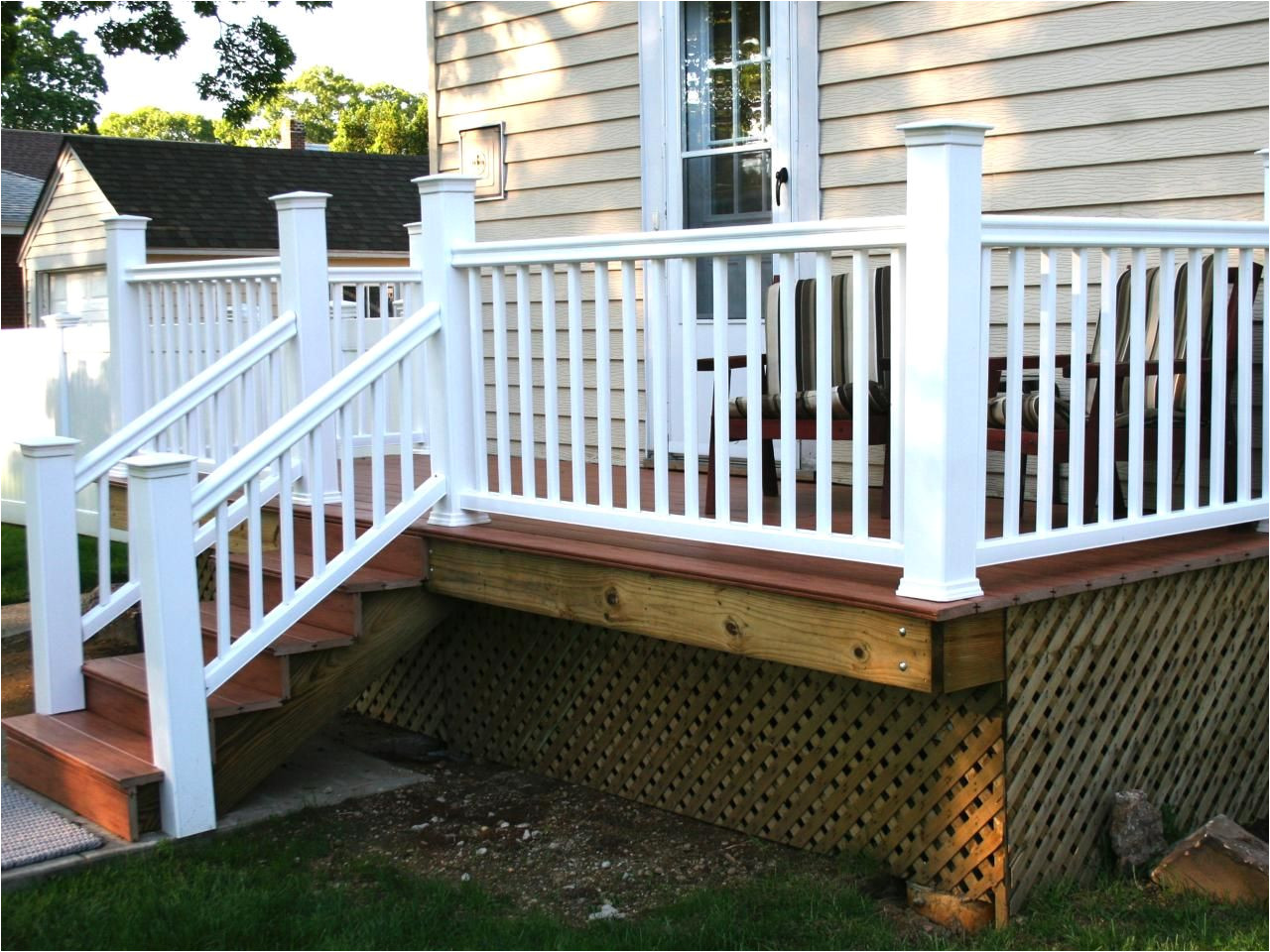 Alternatives to Lattice for Deck Skirting How to Build A Simple Deck Dirty Girls Gardening Pinterest