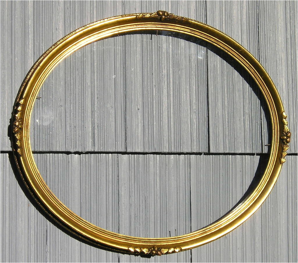 Antique Oval Picture Frames with Bubble Glass Antique Vintage Victorian Style ornate Gold Gilt Oval Picture Frame