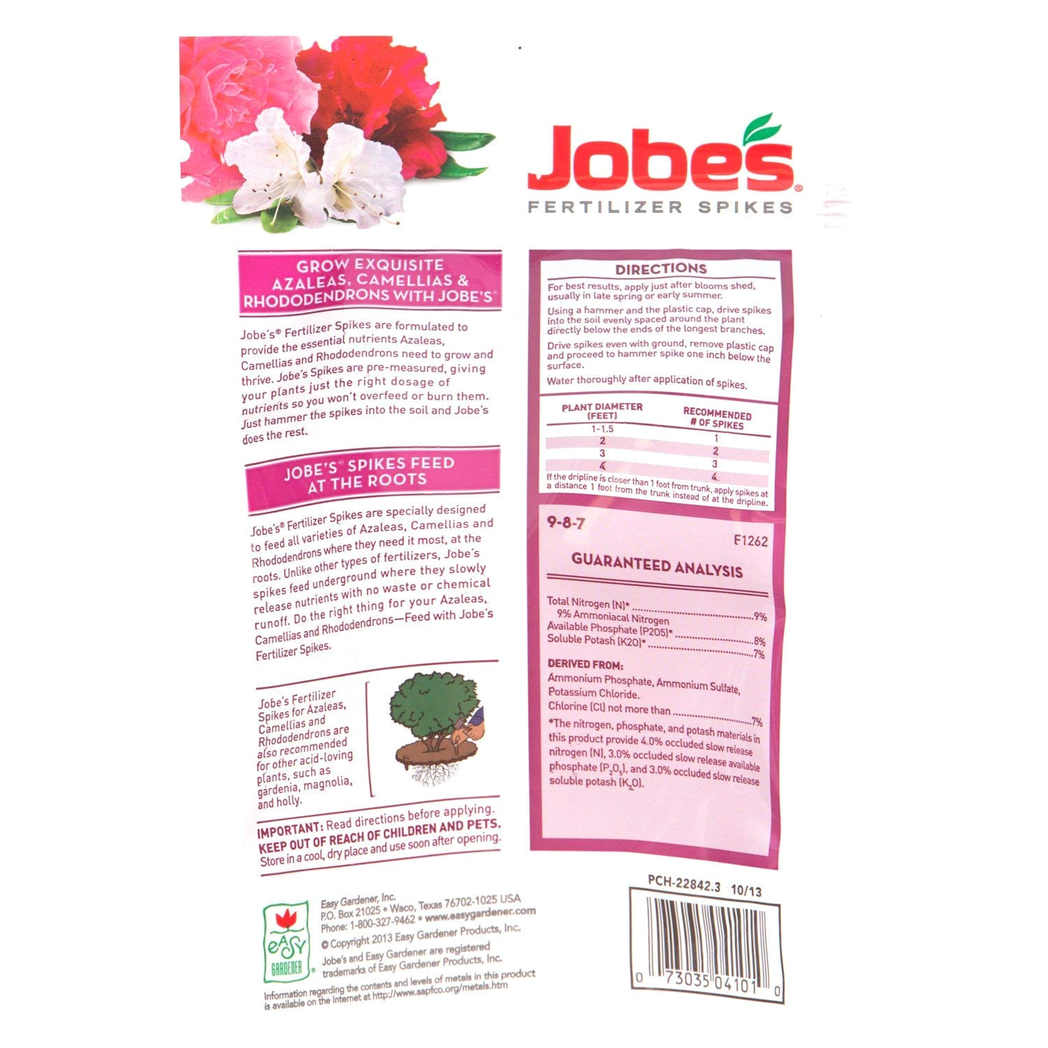 Beat Your Neighbor Fertilizer Amazon Amazon Com Jobe S Fertilizer Spikes for Azalea Camellia and