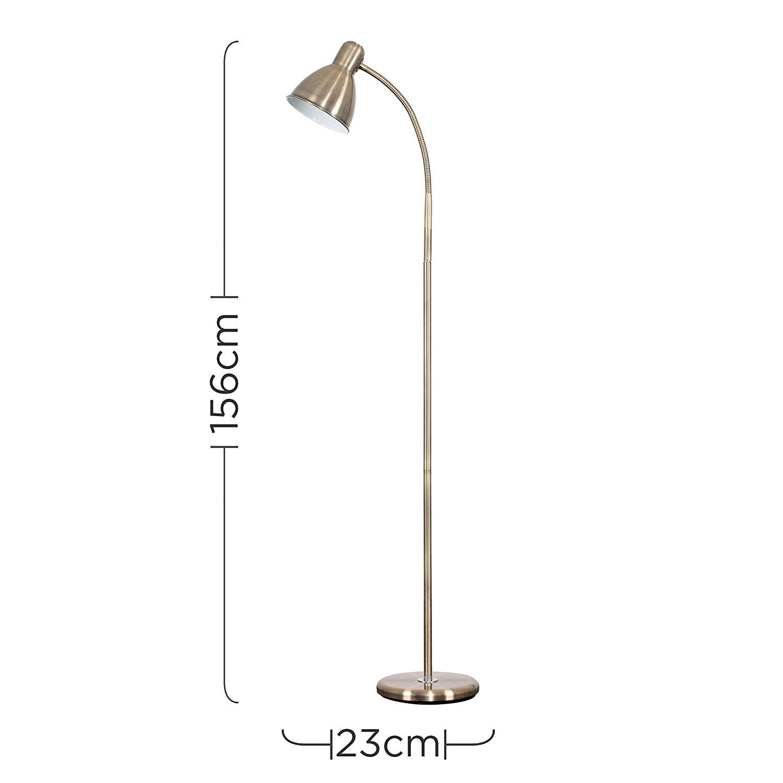 Best Reading Floor Lamp Reviews Uk Modern Antique Brass Led Adjustable Reading Craft Floor Lamp Amazon