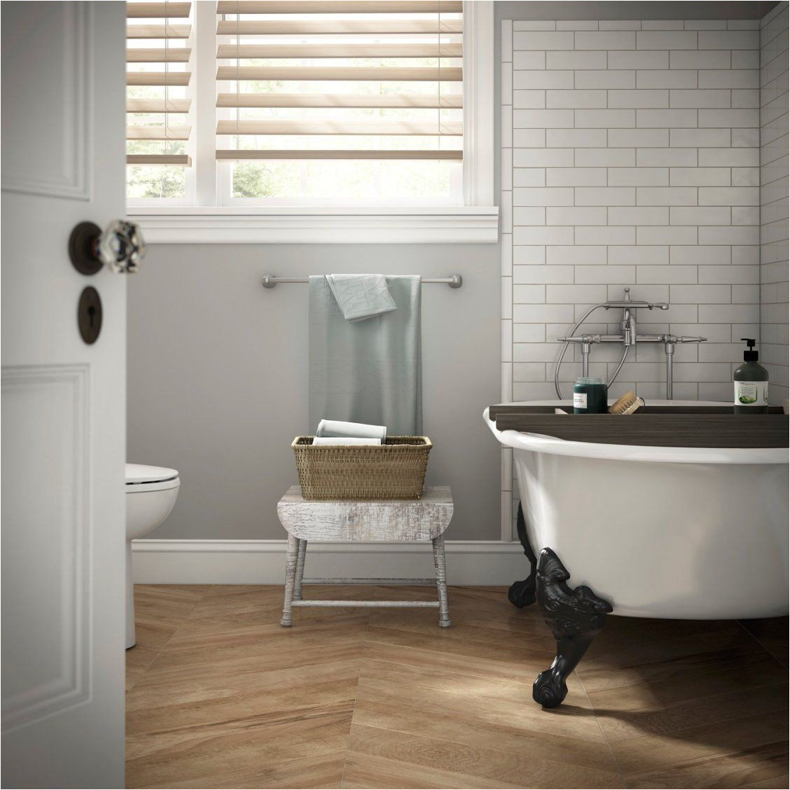 Clawfoot Tub Bathroom Ideas Create A Spa Like Bathroom with soft Gray Walls A Clawfoot Tub