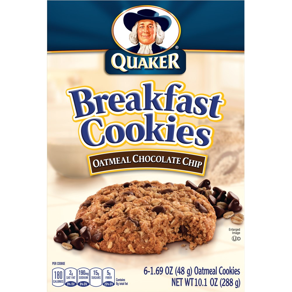 Cookie Delivery College Station Quaker Breakfast Cookies Oatmeal Chocolate Chip 6 Ct Walmart Com