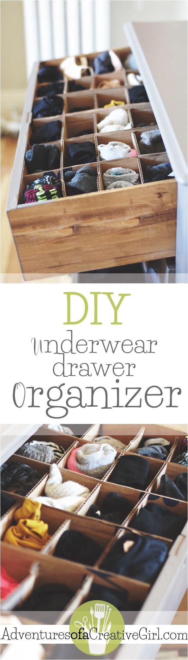 Diy Underwear Drawer organizer Underwear Drawer organizer Diy organization Pinterest Domov