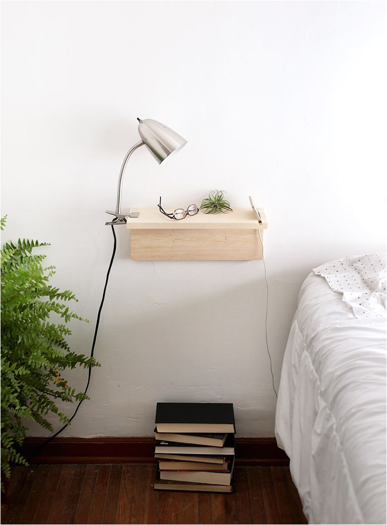 Floating Nightstand with Light Diy Genius Space Saving Projects for Tight Spots Odd Corners Diy