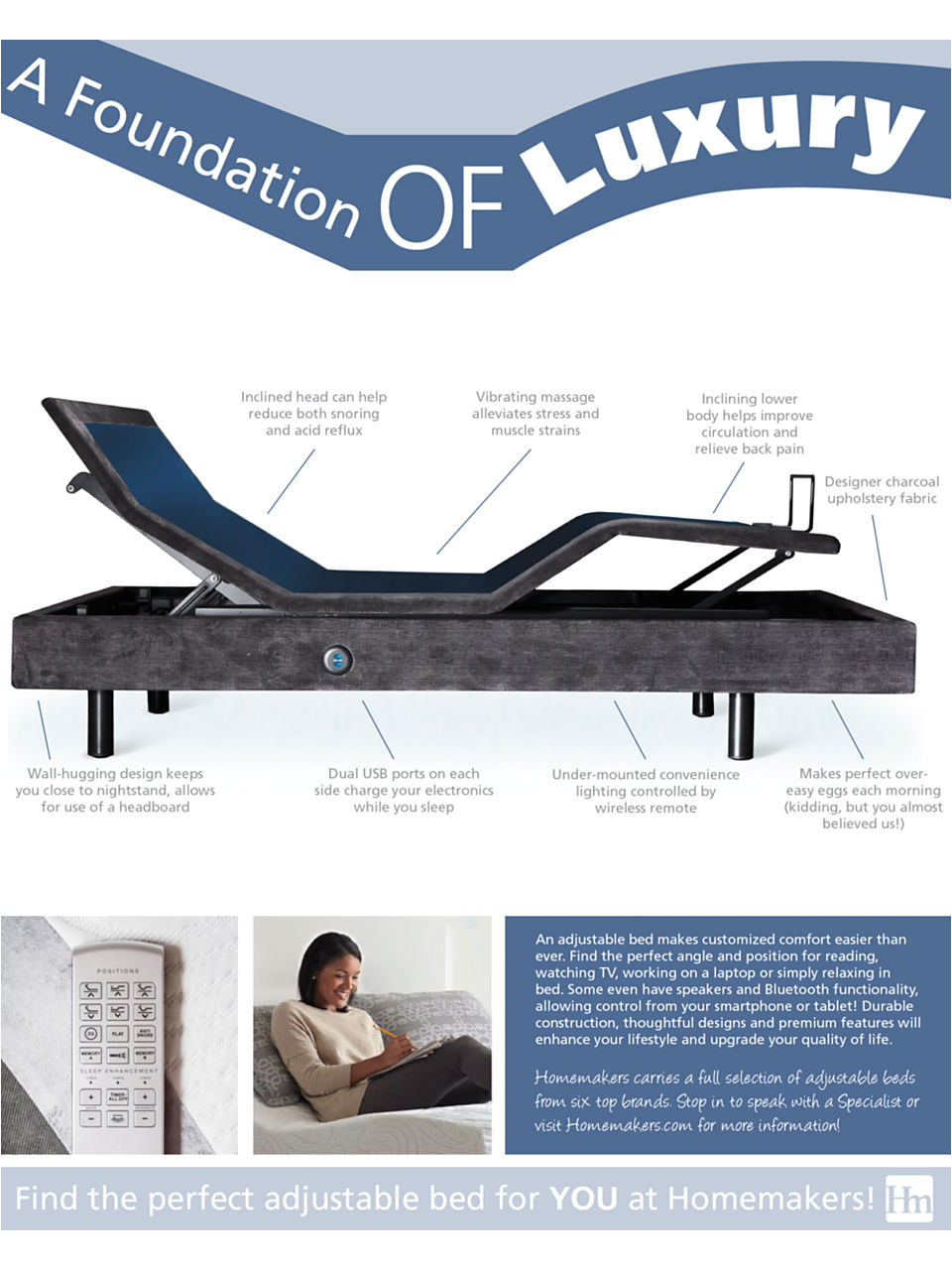 Homemakers Des Moines Mattress Sale Infographic Find the Perfect Adjustable Base Homemakers