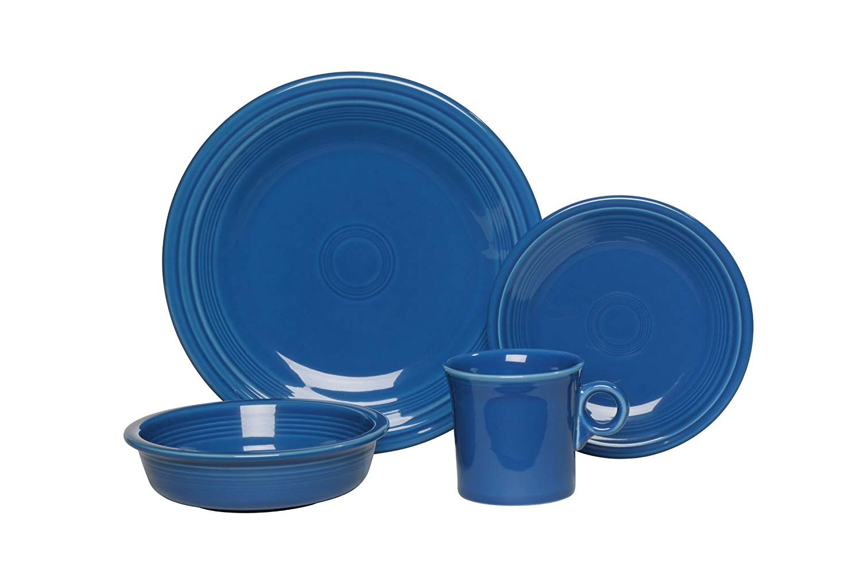 Is Fiesta Dinnerware Microwave Safe Amazon Com Fiesta 4 Piece Place Setting Lapis Dinnerware Sets
