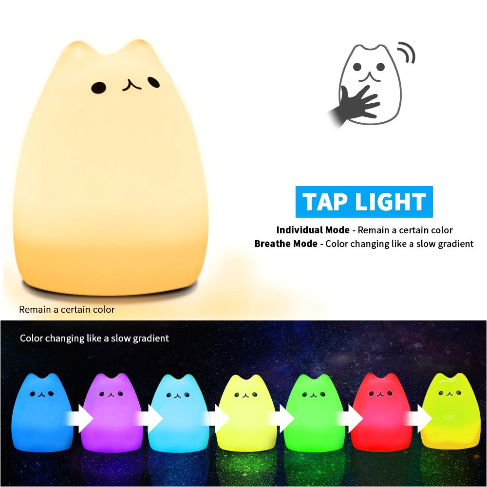 Kuchi Kopi Night Light Ikea Amazon Com Mystery Cat Night Light for Kids soft Silicone Led Baby
