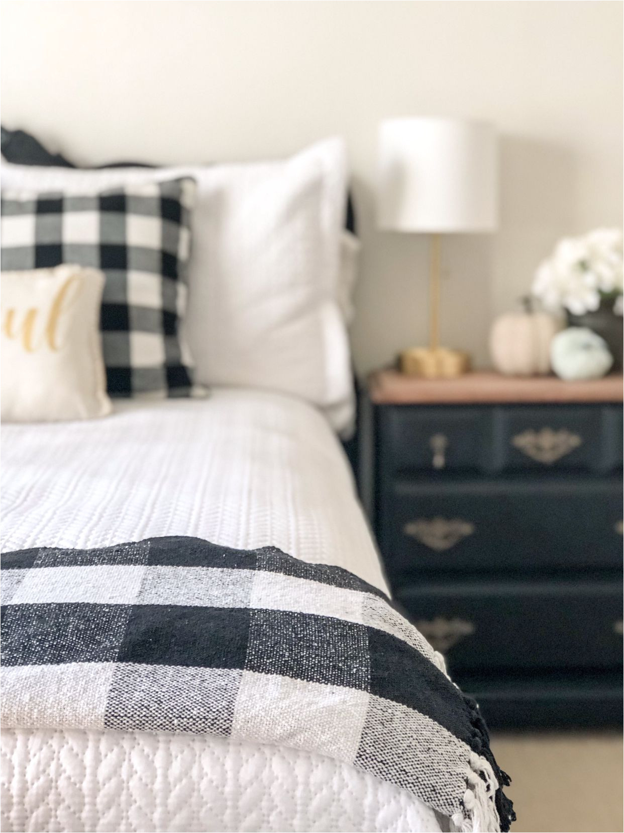 Pink Buffalo Check Bedding Ikea Adding Buffalo Check to My Guest Room My House Bedroom Home