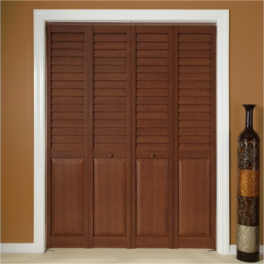 Puertas De Closet Home Depot Mexico Home Fashion Technologies 18 In X 80 In 3 In Louver Panel Dark