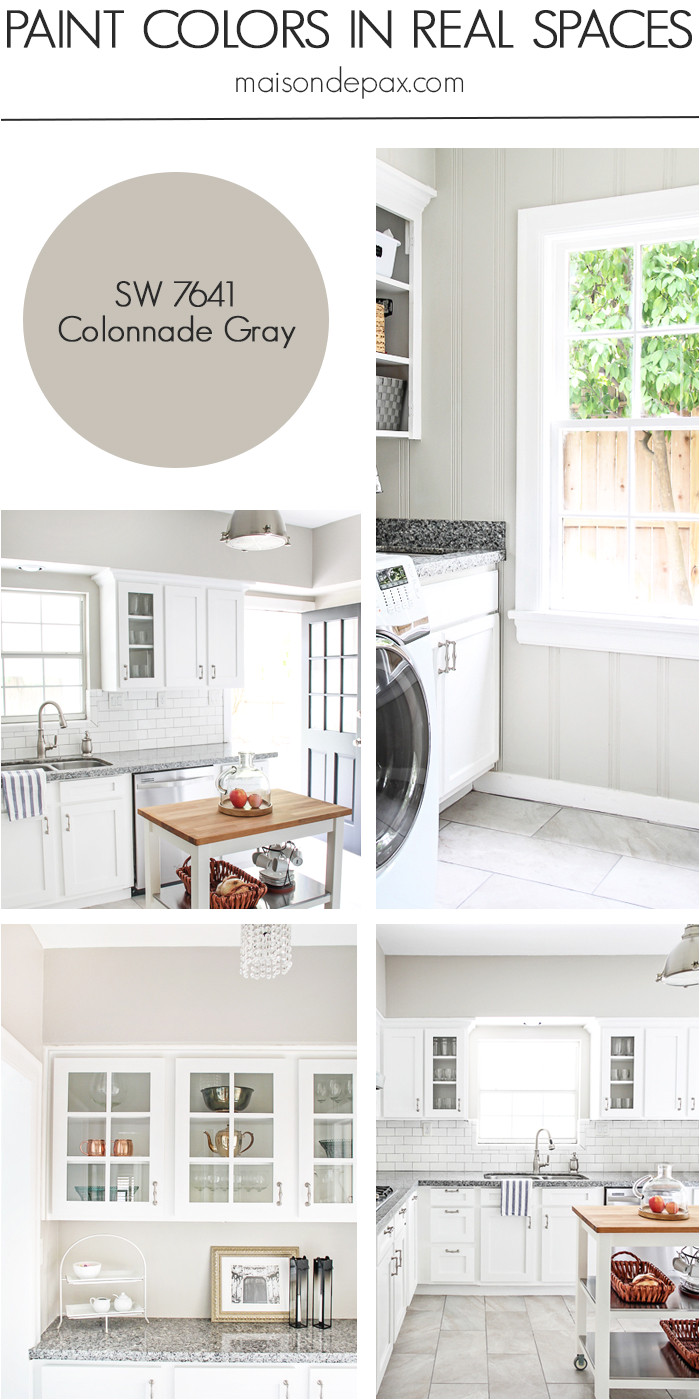Sherwin Williams Light French Grey Behr Paint Color Home tour Nature Inspired Neutrals Maison De Pax