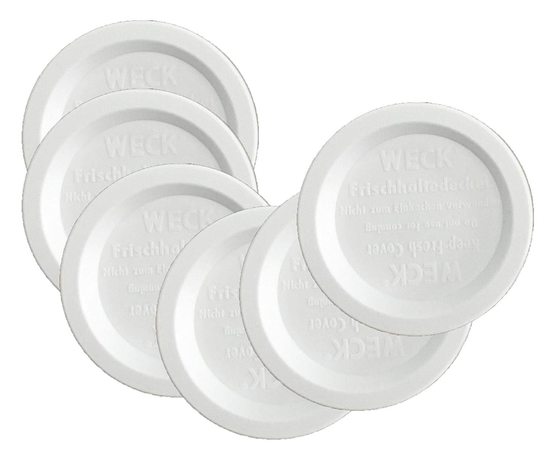 Wooden Lids for Weck Jars Amazon Com Weck Jar Keep Fresh Plastic Lids 6 Pack Small 60mm