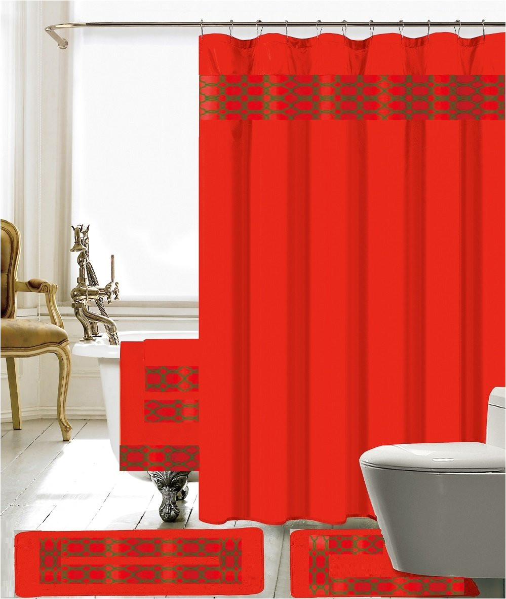 Bed Bath and Beyond Curtain Tie Back Hooks Red Shower Curtains You Ll Love Wayfair