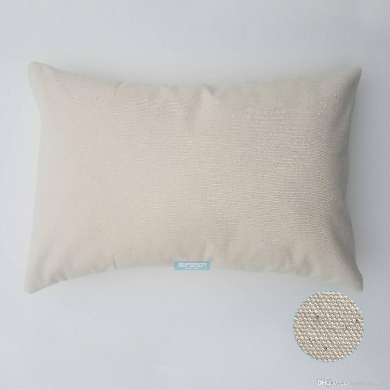 Blank Canvas Pillow Covers wholesale 12×18 Inches wholesale 8oz White or Natural Cotton Canvas Pillow
