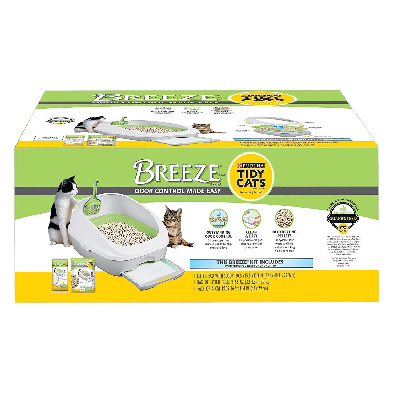 Breeze Litter Box System Reviews Amazon Com Purina Tidy Cats Breeze Cat Litter System Starter Kit