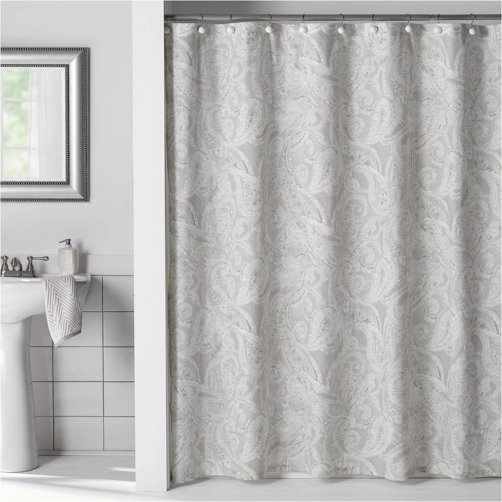 Cortinas De Bano En Walmart Product Image for Flatiron Linen Paisley Shower Curtain Bathroom