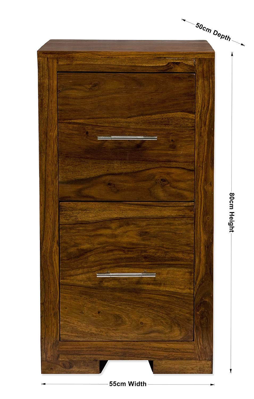 File Rails for Wood Cabinets Uk Indian Sheesham 2 Drawer Wood Office Study Filing Cabinet Oaklands