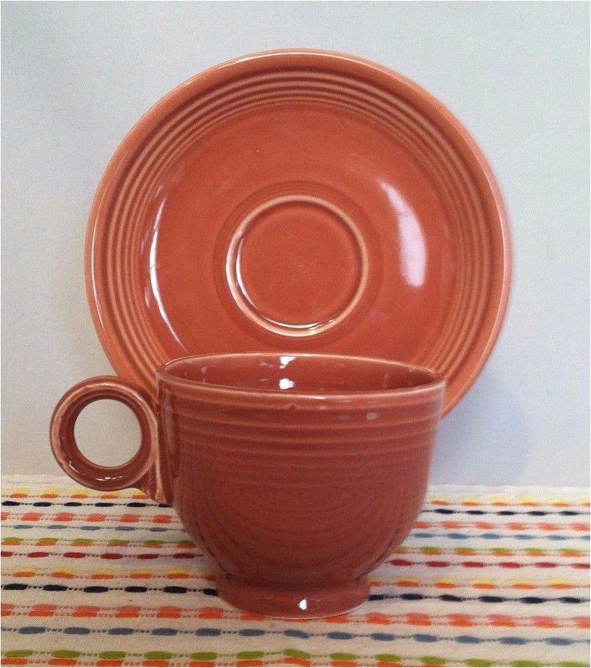 Is Vintage Fiestaware Microwave Safe Vintage Fiestaware Rose Cup Saucer Vintage Fiesta 50s Pink Ring