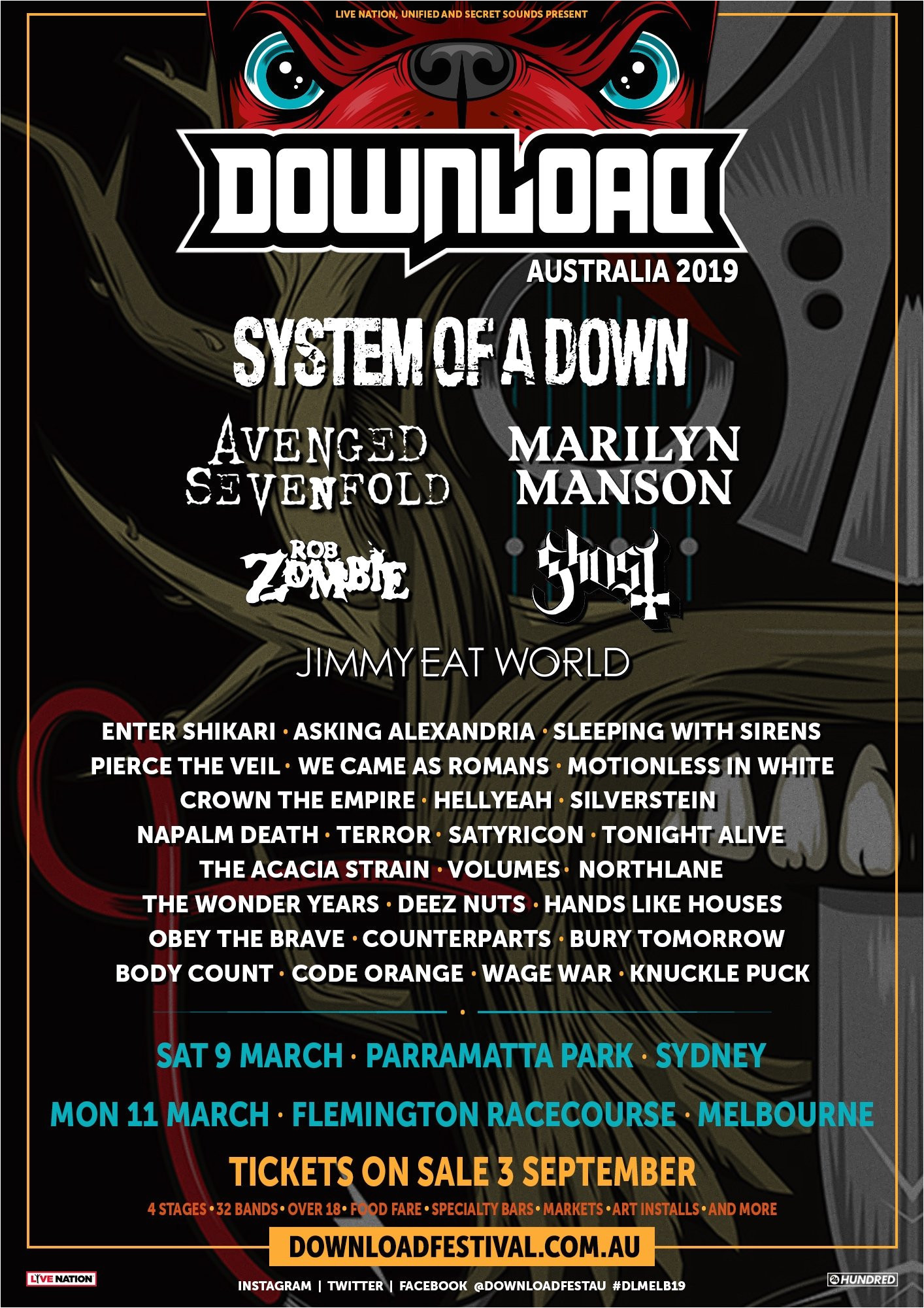 Mesa Arts and Crafts Festival 2019 Yep that Download Festival Australia 2019 Lineup Poster is Fake