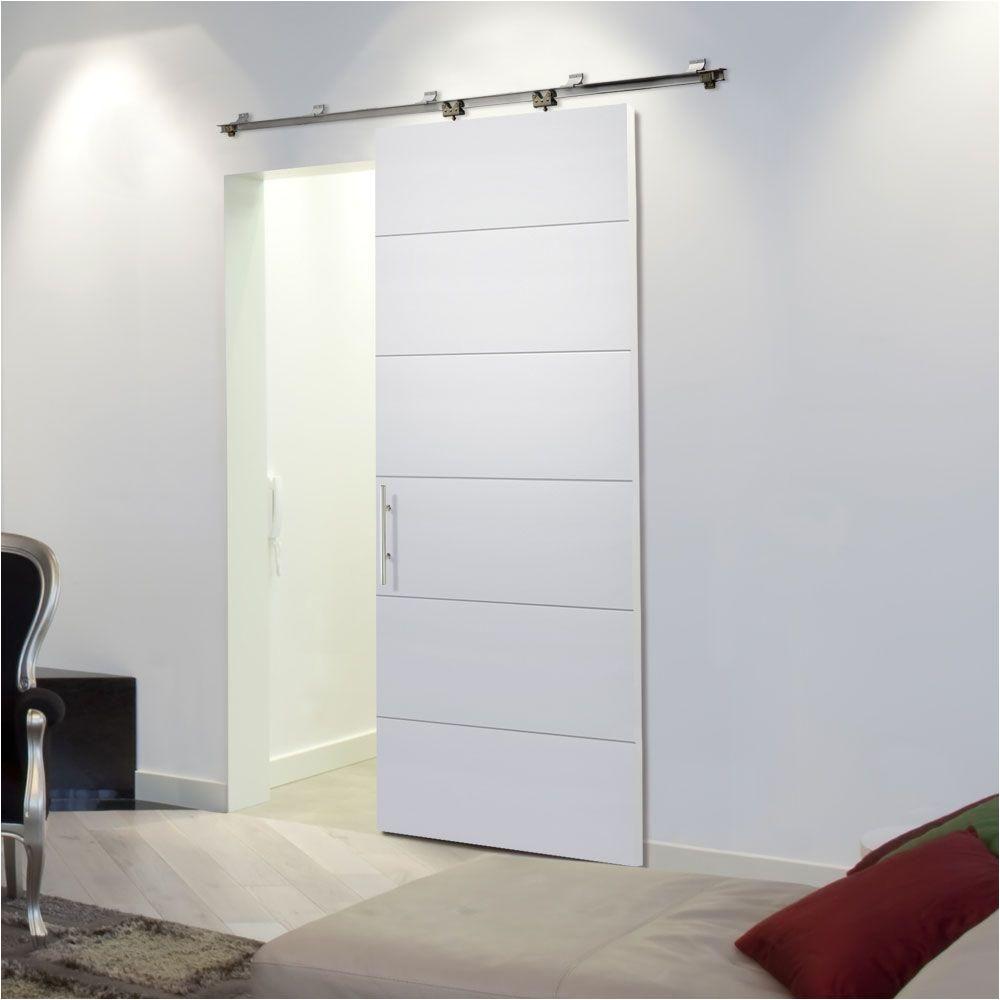 Mid Century Modern Doors Home Depot Masonite 36 In X 84 In Melrose solid Core Primed Barn Door