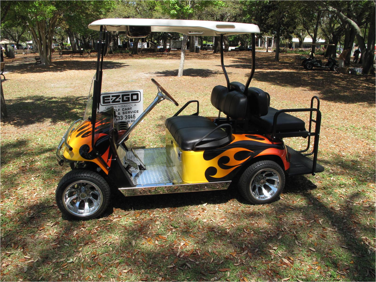 Mining Cart for Sale Flame Cart From Woofapaloosa Custom Golf Carts Custom Golf Carts