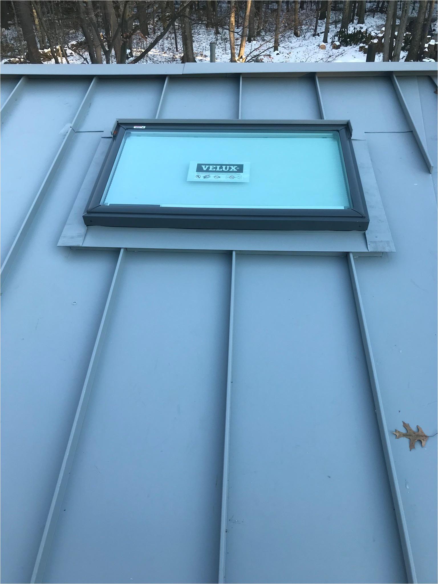 Velux Sun Tube Installation Instructions Standing Seam Standing Seam Metal Roofs Metal Roof Skylight
