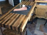 12 Ft butcher Block Countertop My New Leather Working Desk Homemade butcher Block and Granite