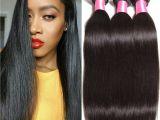 12 Inch Straight Weave 2018 6a Brazilian Virgin Straight Hair 3 Bundles 12 12 12