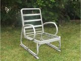 1940 S Metal Lawn Chairs Vintage 1940 39 S Aluminum Glider Lawn Chair Seat Furniture