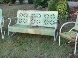 1940 S Metal Lawn Chairs Vintage 1940 39 S Metal Patio Set Glider 2 Bouncy Chairs